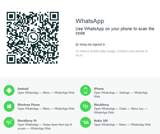 How to use the whatsapp web messenger